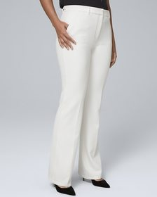 Curvy-Fit Luxe Suiting Bootcut Pants