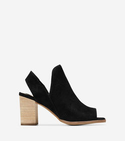 Cole Haan Callista Open Toe Sling Bootie (75MM)