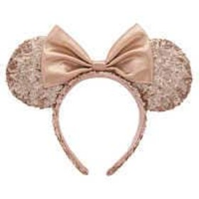 Disney Minnie Mouse Rose Gold Sequined Ear Headban