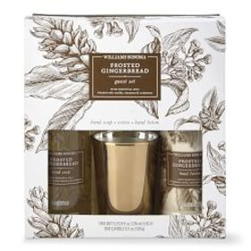 Williams Sonoma Frosted Gingerbread Guest Set