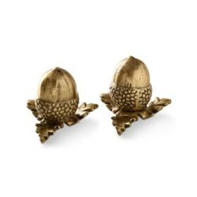 Brass Acorn Salt & Pepper Shakers