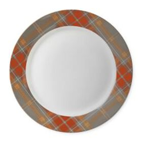 Autumn Plaid Charger Plate