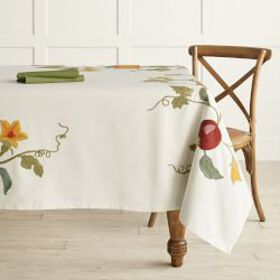 Harvest Embroidery Tablecloth