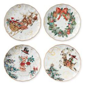 Twas the Night Mixed Dinner Plates, Set of 4