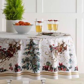 'Twas the Night Before Christmas Tablecloth, Round