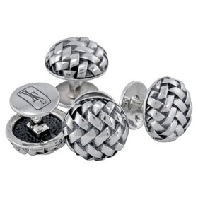 Scott KayBasketweave Round Cufflinks