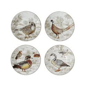 Plymouth Woodland Birds Salad Plates, Set of 4