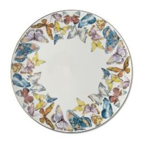 Floral Meadow Charger Plate, Butterfly
