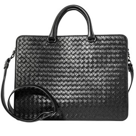 Bottega VenetaIntrecciato Woven Leather Briefcase-