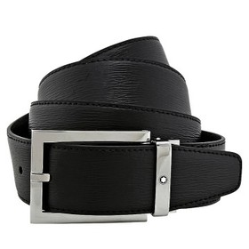 MontblancBlack Westside Leather Belt