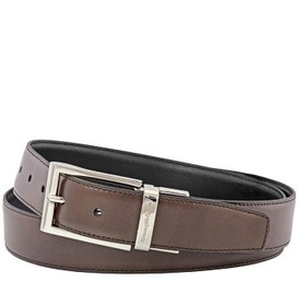 ZegnaXL Men's Reversible Leather Belt - Brown/Blac