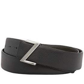 ZegnaXL Men's Reversible Belt - Black/ Brown
