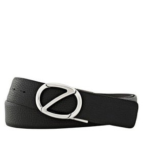 ZegnaMen's XXL Reversible Leather Belt- Blue/ Brow