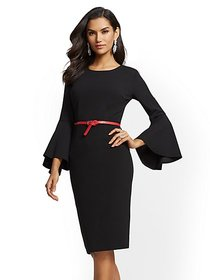Bell-Sleeve Sheath Dress - 7th Avenue - New York &
