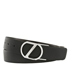 ZegnaXLReversible Calfskin Leather Belt Black/Brow