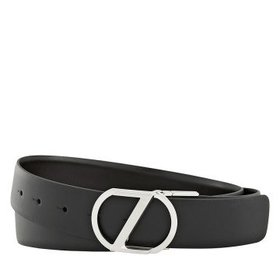 ZegnaXXLReversible Calfskin Leather Belt Black/Bro