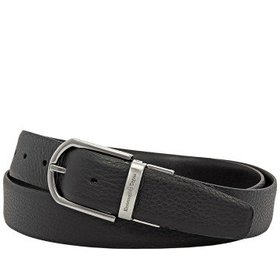 ZegnaMen's XXL Reversible Leather Belt- Black- 43""
