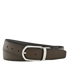 ZegnaMen's XXL Reversible Leather Belt - Brown/Bla
