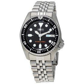 SeikoBlack Automatic Diver Men's Watch