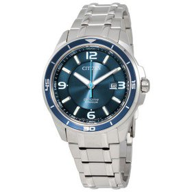 CitizenTi+IP Blue Dial Titanium Men's Watch