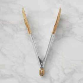 "Williams Sonoma 9"" Wood Tongs"