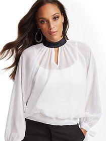 Tall Clip-Dot Blouse - 7th Avenue - New York & Com
