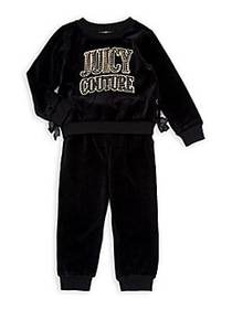 Juicy Couture Little Girl's & Girl's 2-Piece Velou
