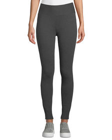 Neiman Marcus Wide-Waistband Long Leggings