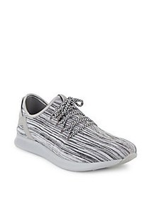 Steve Madden Roundtoe Lace-Up Sneakers GREY WHITE