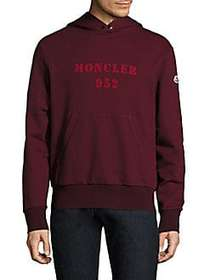 Moncler Maglia Logo Cotton Hoodie PINK BURGUNDY