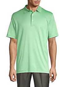 Saks Fifth Avenue Classic Cotton Blend Polo GREEN