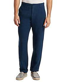 Saks Fifth Avenue COLLECTION Drawstring Linen Pant