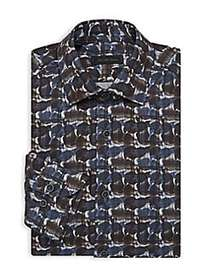 Saks Fifth Avenue COLLECTION Abstract Print Dress