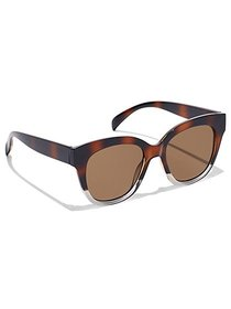Faux-Tortoise Cat-Eye Sunglasses - New York & Comp
