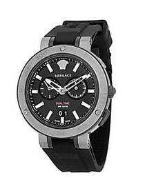Versace Chronograph Stainless Steel Silicone Strap