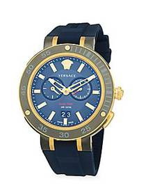 Versace IP Stainless Steel Chronograph Watch GOLD