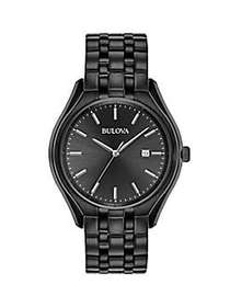 Bulova Dress Collection Classic Black Stainless St