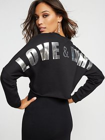 "Black Metallic ""Love & Light"" Sweatshirt - Gabriel"
