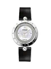 Versace Eon Stainless Steel, Mother-Of-Pearl & Lea