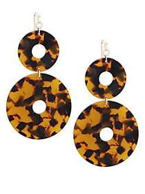 Kenneth Jay Lane Goldtone Drop Earrings TORTOISE