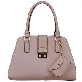 Marc New York Faux-Leather Satchel w/ Flap Over Pu