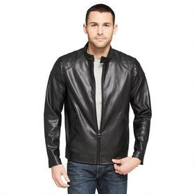Web Buster Faux-Leather Moto w/ Quilting