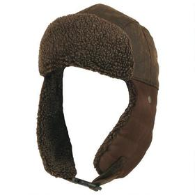 Wilsons Leather Washed Canvas Trapper Hat w/ Faux-