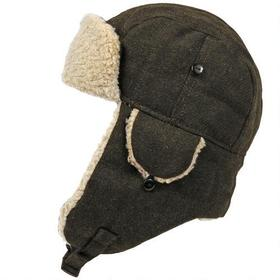 Wilsons Leather Quilted Trapper Hat w/ Faux-Sherpa