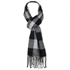 Wilsons Leather Plaid Woven Scarf