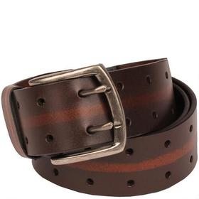 Wilsons Leather Brushed Metal Buckle Double Perfor