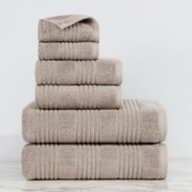 Tranquility Solid Ribbed 100% Cotton - 6 Piece Tow
