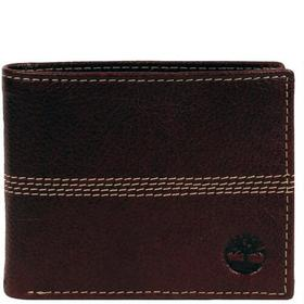 Timberland Fully Lined Leather Four Stitch Bi-Fold