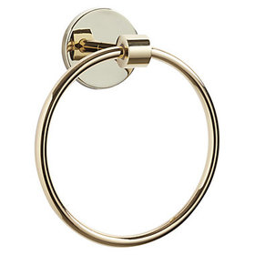 Paulette Bath Towel Ring - Brass
