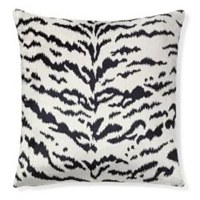 Scalamandre Tiger Pillow Cover, White